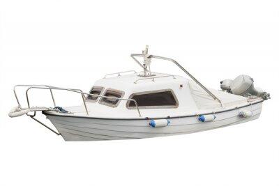 Naklejka Obraz odosobnionym łodzi