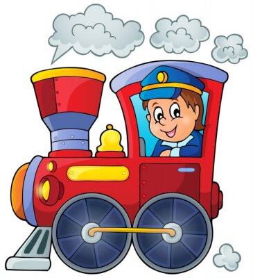 Naklejka Obraz z pociągiem tematu 1