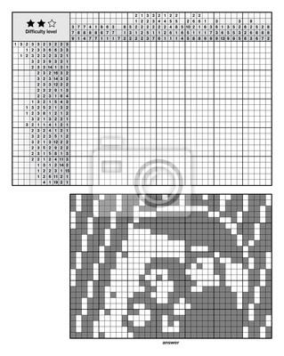 Obrazek Logiczne Zagadki Japońskie Krzyżówki Nonogram Dla Nowicjuszy Naklejki Redro