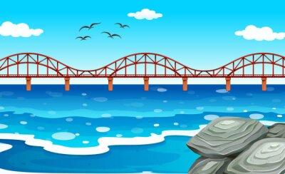 Naklejka Ocean widok z mostu