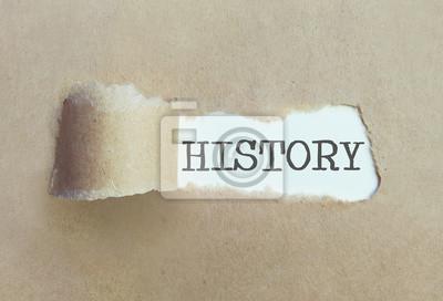 Naklejka Odkrywanie historii koncepcji