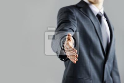 Oferta Biznesmen do uzgadniania, z bliska dłoń