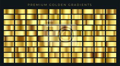 Naklejka ogromny, duży zbiór próbek tła złota gradientów