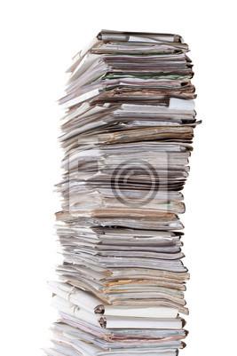 Naklejka Ogromny stos dokumentów