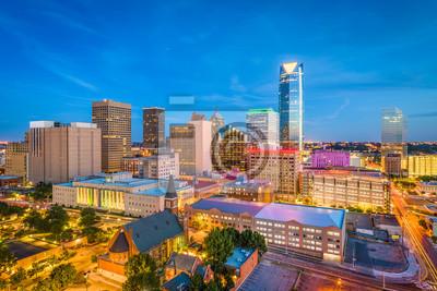 Naklejka Oklahoma City, Oklahoma, USA Skyline