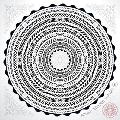 Naklejka Okrągłe elementy ramy koło granicy dekoracje.
