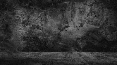 Naklejka Old black background. Grunge texture. Dark wallpaper. Blackboard Chalkboard Concrete