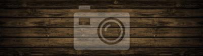 Naklejka old brown rustic dark brown wooden texture - wood background panorama banner long