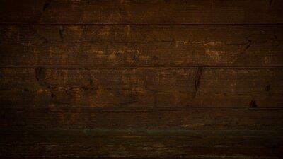 Naklejka old brown rustic dark wooden texture - wood timber background