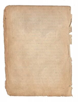 Naklejka Old paper with scratches and stains texture isolated on white