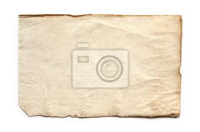 Naklejka old, vintage paper background isolated on white