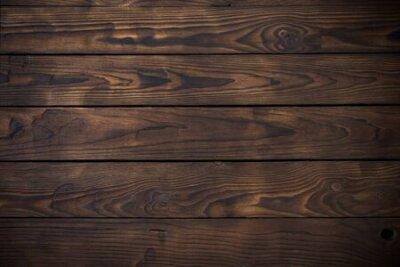 Naklejka old wooden dark striped background