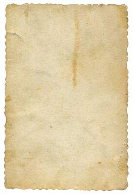 Naklejka old yellowed card of paper