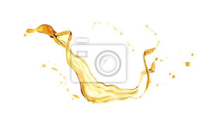 Naklejka Oliwy z oliwek lub oleju silnikowego powitalny samodzielnie na białym tle