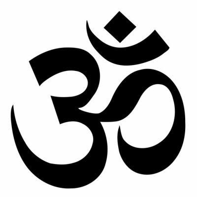 Naklejka om sign yoga symbol vector illustration