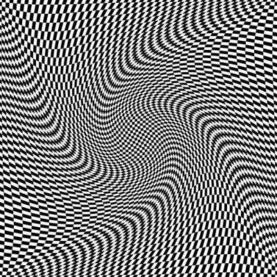 Naklejka Op-art skręcanie tekstury. Streszczenie elastyczną powierzchnię.