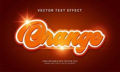 Naklejka Orange 3d text style effect themed modern orange product