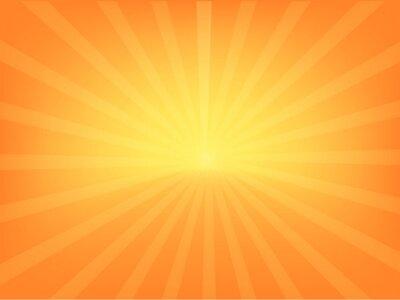 Naklejka orange and yellow sunlight sunburst sunshine background design for light ray banner, ads, template, product, social media, background wallpaper vector illustration