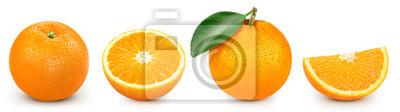 Naklejka orange isolated on white