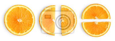 Naklejka Orange slices isolated