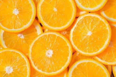 Naklejka Orange Slices Tło