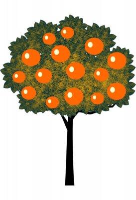 Naklejka Orange Tree