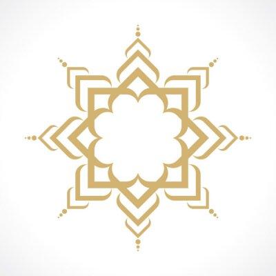 Naklejka orientalny wzór