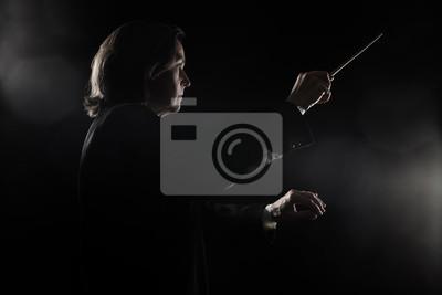 Naklejka Orkiestra dyrygentury prowadzącej z batonem Maestro