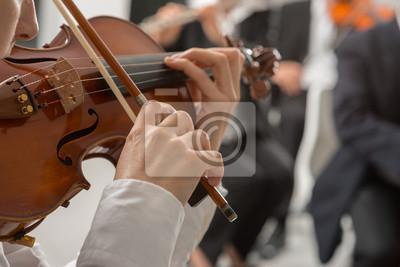 Naklejka Orkiestra Klasyczna sekcja ciąg jego efektywności