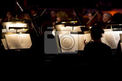 Naklejka Orkiestra symfoniczna ciemno