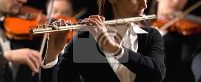 Orkiestra symfoniczna: Flecista z bliska