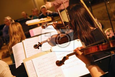 Naklejka Orkiestra Symfoniczna Prób