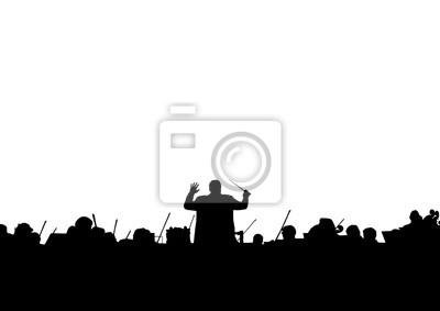 Naklejka Orkiestra Symfoniczna w formie sylwetki