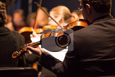 Naklejka Orkiestra symfoniczna wykonywania.