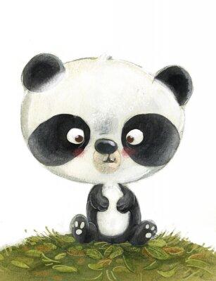 Naklejka oso panda pequeño