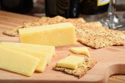 Naklejka Ostry biały ser cheddar