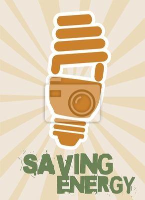 Naklejka Oszczędzanie energii