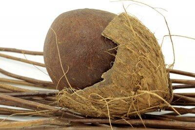 Naklejka otwarta kokosowy