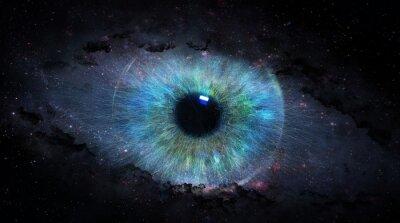 Naklejka Otwarte oko w kosmosie