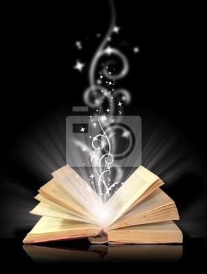 Naklejka Otworzyć księgi czarów na czarno