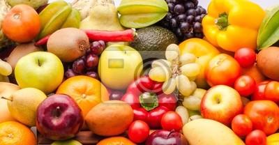 Naklejka Owoce i warzywa na zdrowie