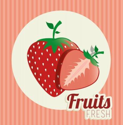 Naklejka Owoce zdrowa żywność