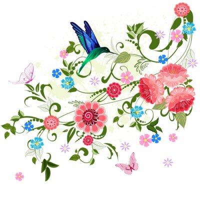 Naklejka ozdoba kwiatu dla projektu