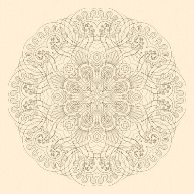 Naklejka Ozdobne koronki okrągły wzór