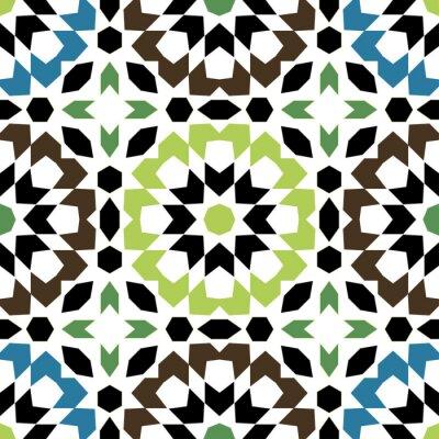 Naklejka Ozdobne okrągłe Maroko szwu.