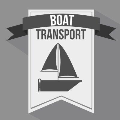 Naklejka Oznacza projektu transportowego