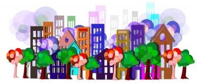 Naklejka Paesaggio Urbano N_01