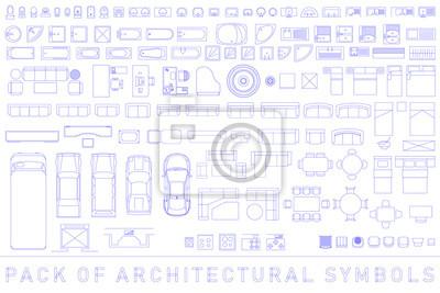 Naklejka Pakiet symboli architektonicznych