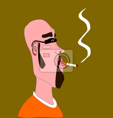 e494c22d62 Naklejka palenie marihuany hipster na wymiar • sztuka