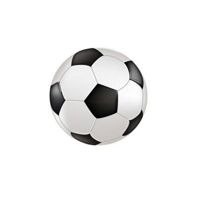 Naklejka Pallone con sfondo bianco